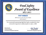 Food Safety Award of Excellence